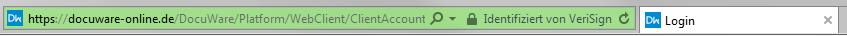 Durch Verwendung der Extended-Validation-Technologie wird dem Nutzer im Browser durch Grünfärbung der Adressleiste sofort eine gesicherte und validierte Verbindung angezeigt: