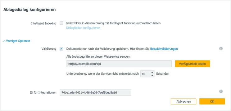 DocuWare Validierung auch für Cloud