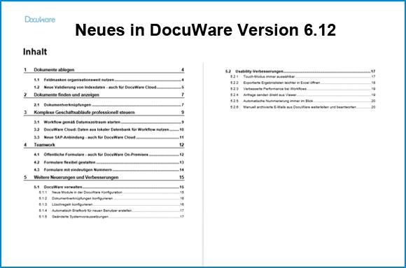 Das ist neu in DocuWare Version 6.12
