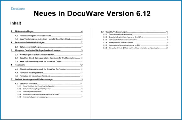 Das ist neu in DocuWare Version 6.12