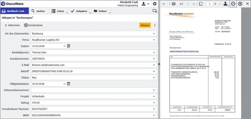 Indexdaten werden automatisch gleich nach dem Ablegen aus der Datenquelle übertragen